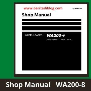 Komatsu wa200-8 shop manual wheel loader