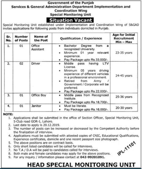 Jobs in Services And General Administration