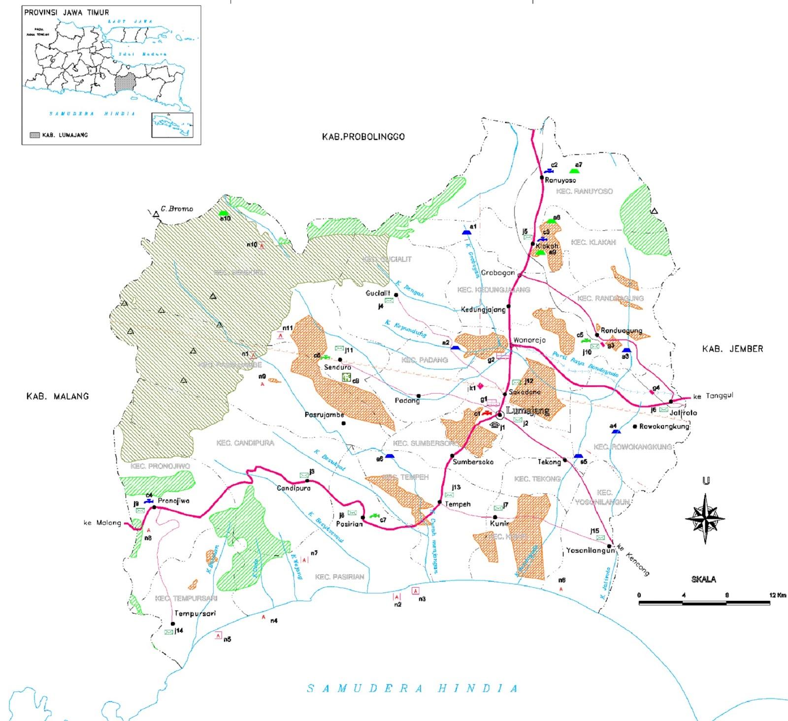 Peta Kabupaten Lumajang HD