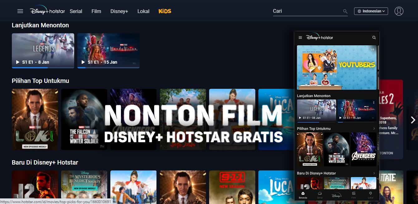 Mantap, Cara Nonton Film/Movie Terbaru di Disney+ Hotstar Telkomsel Gratis
