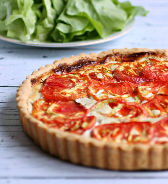 Heirloom Tomato and Gorgonzola Tart