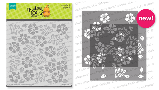 Hibiscus Stencil Set | 2 piece layering Stencil Set by Newton's Nook Designs #newtonsnook