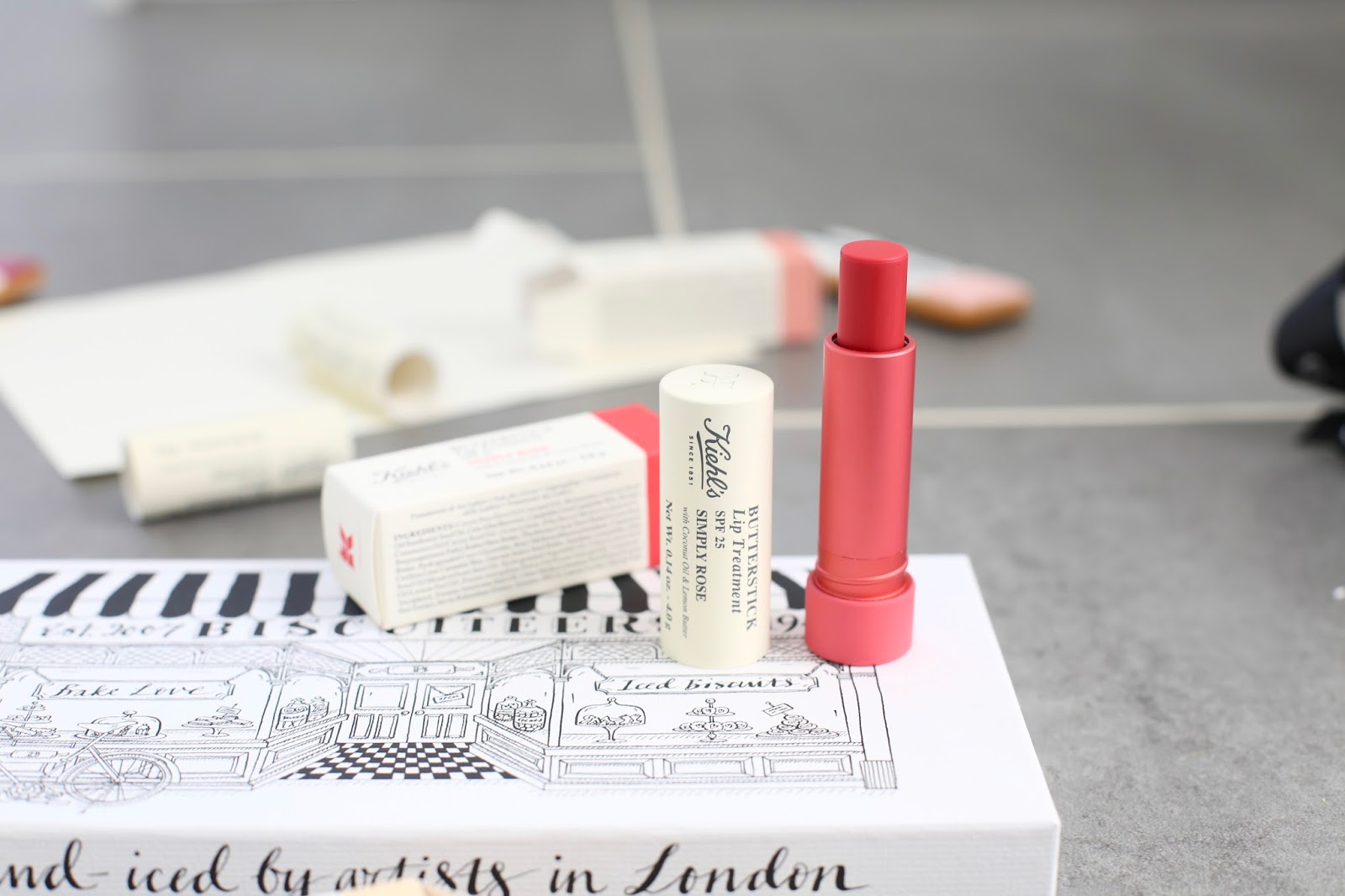 kiehls lip butter stick balm in simply rose