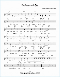 chord embraceable you lagu jazz standar