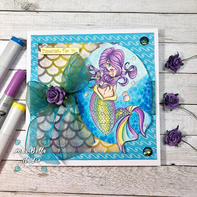 Krista Smith Saturated Canary Bubbles Mermaid