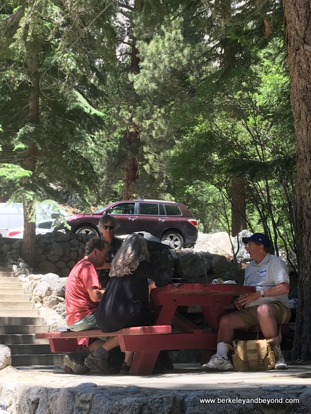 dining al fresco at Whitney Portal Store in Lone Pine, California