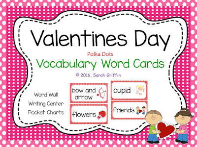 https://www.teacherspayteachers.com/Product/Valentines-Day-Vocabulary-Word-Cards-Polka-Dot-1073199