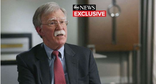 Bolton warns American dissidents from reelection that he thinks Trump is a 1-term president