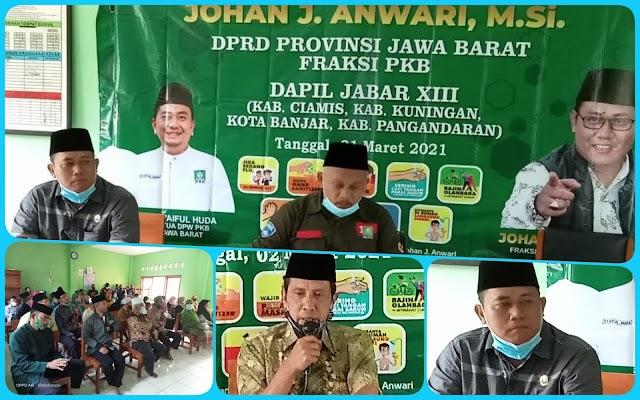 Anggota DPRD Jabar Johan J.Anwari Lakukan Reses di Gedung Yayasan Babussalam Kec.Kawali