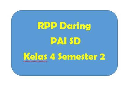 RPP Daring PAI SD Kelas 4 Semester 2