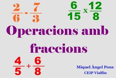 Tema 8. Operacions amb fraccions