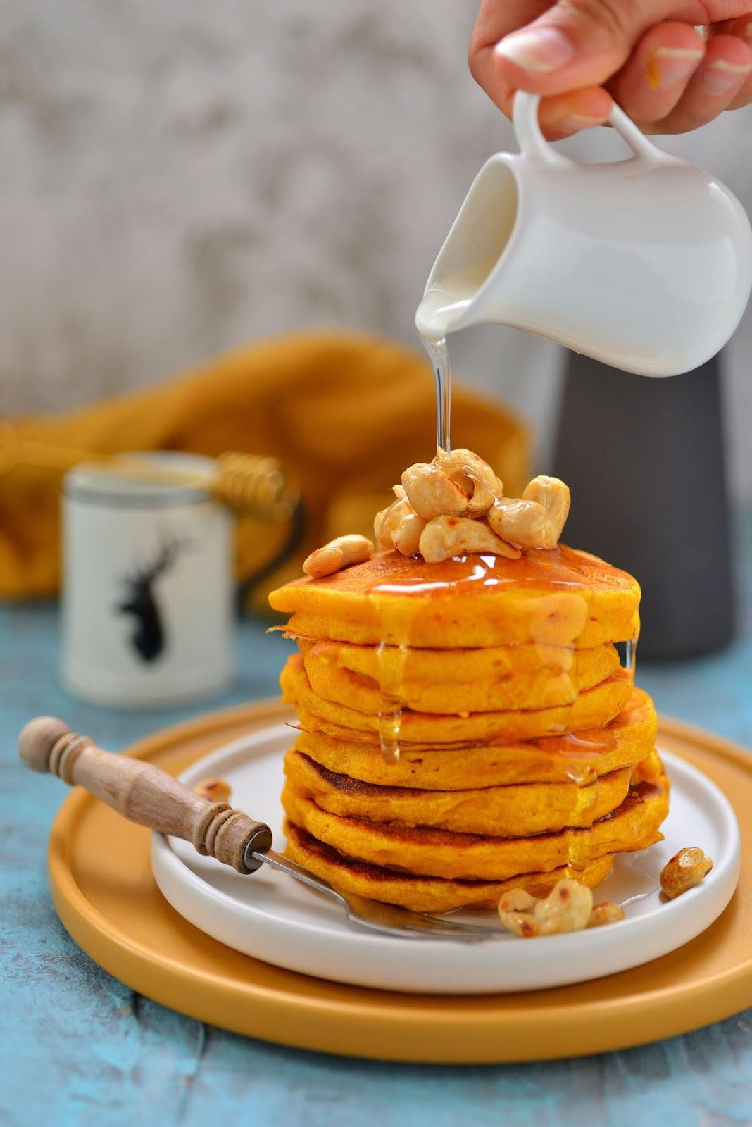 Bardzo puszyste pancakes z dyni!
