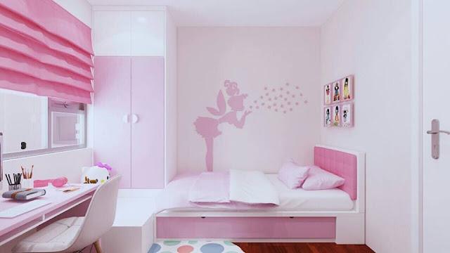 Mẫu thiết kế phòng ngủ 2 cho bé