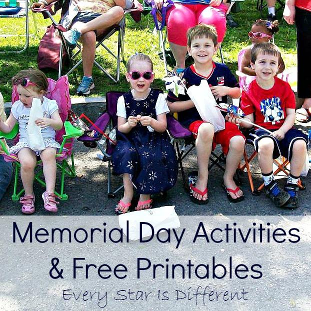 Memorial Day Activities & Free Printables