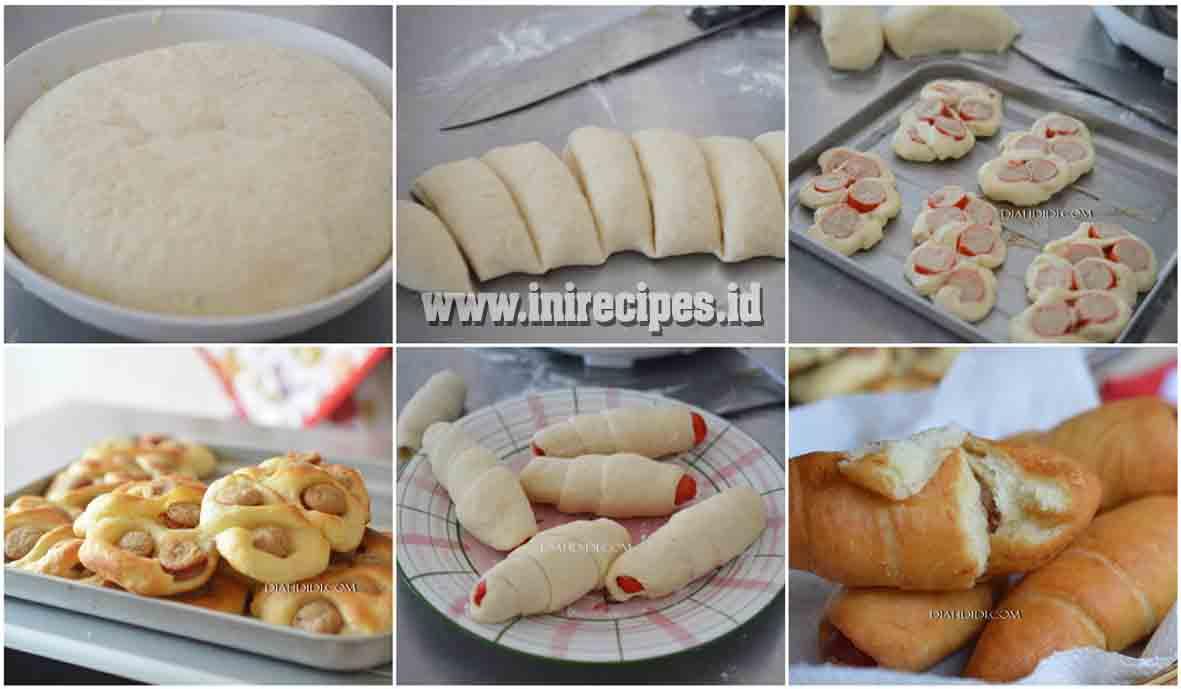 Resep Roti Sosis Yang Empuk dan Lembut Meski Tanpa Telur