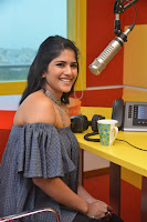 Mega Akash in a sleeveless Off Shoulder Cute Dress Stunnign beauty at Radio Mirchi Promoting Movie LIE ~ Celebrities Galleries 048.JPG