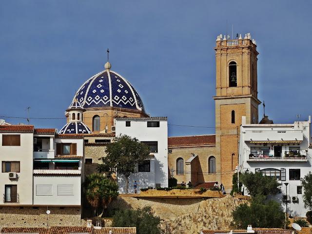 Altea miasto na Costa Blanca białe domki