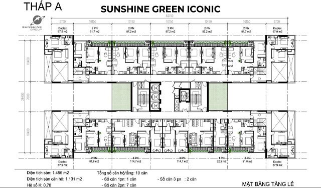 căn hộ Dự án chung cư Sunshine Green Iconic Nguyễn Lam Phúc Đồng Long Biên Hà Nội