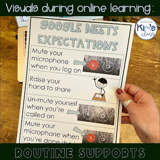 Visual Supports During Online Learning in Special Education