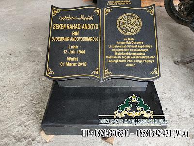 Nisan Model Buku, Desain Nisan Buku Batu Granit, Nisan Kuburan Batu Alam