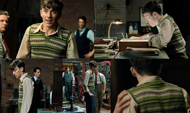 The Imitation Game Costumes Peter Hilton Fair Isle Pullover Green