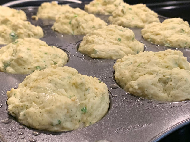 Shallot & Pesto Muffins