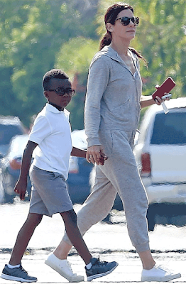 Sandra Bullock and her son step out in LA...he's such a ...