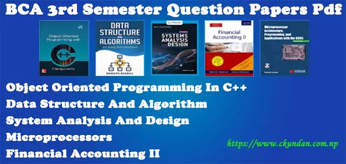 BCA 3rd Semester Question Papers Pdf