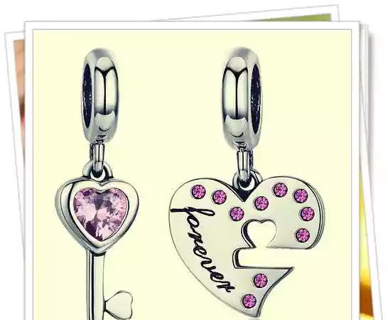 TALISMAN din argint cu Double Heart Key păreri forumuri talismane pentru cele mai bune prietene