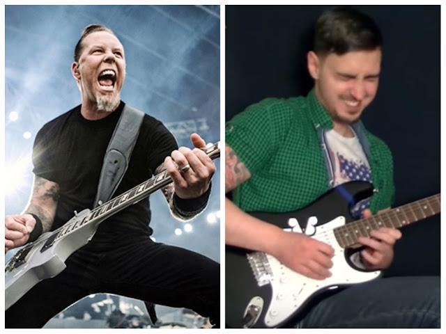 Guitarrista principiante practica un clásico de Metallica por un año entero