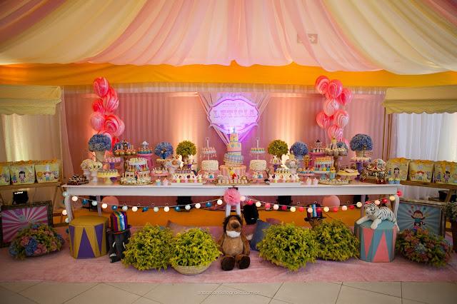 mesa tematica circo