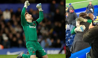 West Ham goalkeeper David Martin in tears after dream debut at 33 year old