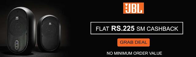 Get Flat Rs. 225 Cashback on any JBL earphones .