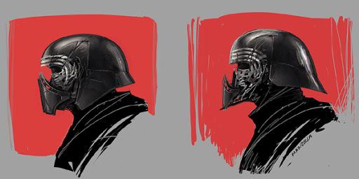 Kylo's Helmet 03 by Ivan Manzella.