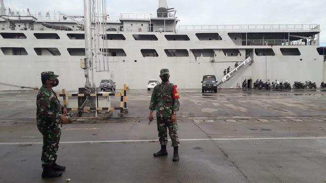 Jajaran Kodim 0410/KBL Laksanakan Pengamanan Jalannya Embarkasi Personil Dan Alutsista Brigif R-9 2 Kostrad