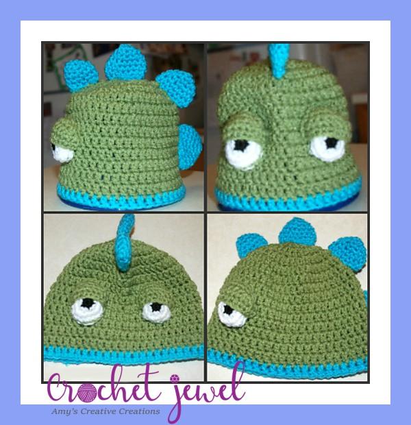 Amys Crochet Creative Creations Crochet Dinosaur Hat Newborn
