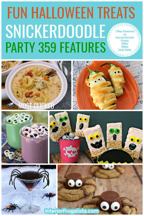 Fun Halloween Treats - Snickerdoodle Create Bake Make Link Party 359 Features co-hosted by Interior Frugalista #linkparty #linkpartyfeatures #snickerdoodleparty