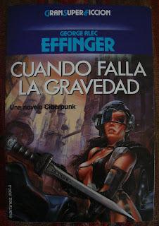 Portada del libro Cuando falla la gravedad, de George Alec Effinger