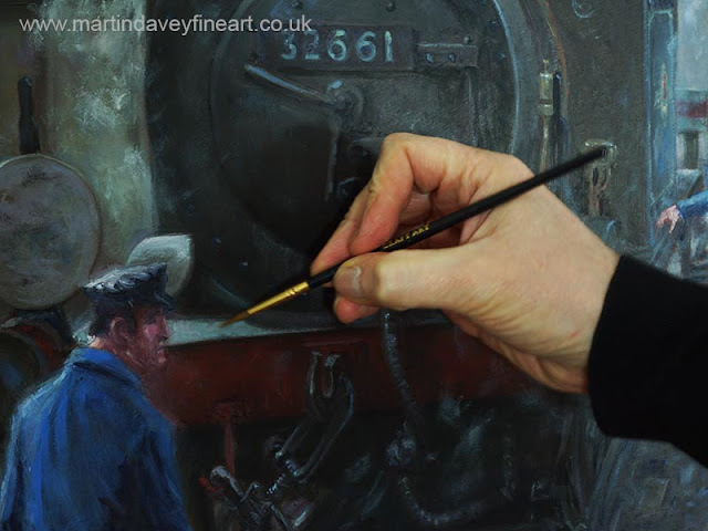 terrier loco railroad art WIP Martin Davey