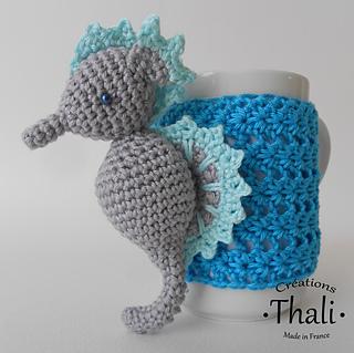 Free Amigurumi Seahorse : Seahorse mug cozy Free Amigurumi Patterns Bloglovin