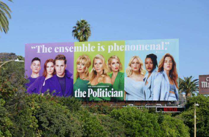 Politician season 1 FYC billboard