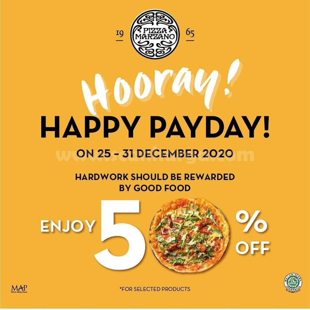 Promo Pizza Marzano Payday Happy Discount 50% Off*