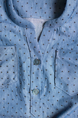 hey june cheyenne tunic in chambray