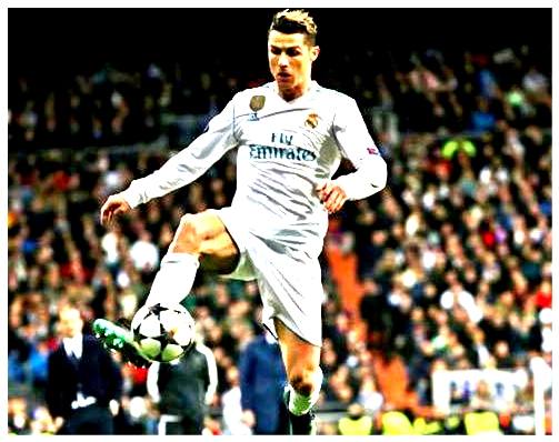 Real Madrid's Cristiano Ronaldo in action.