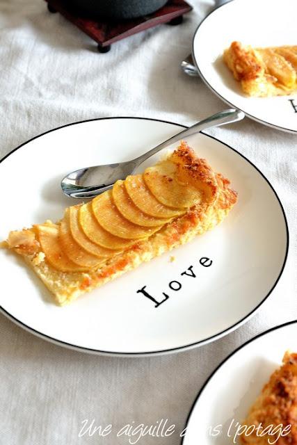 tarte-feuilletée-pommes-amandes-facile-bon marché