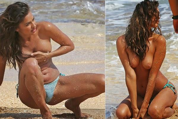 Topless da noiva de Cristiano Ronaldo