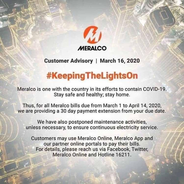 Meralco Bills Payment Extension