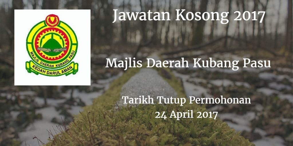 Jawatan Kosong MdKubangPasu 24 April 2017
