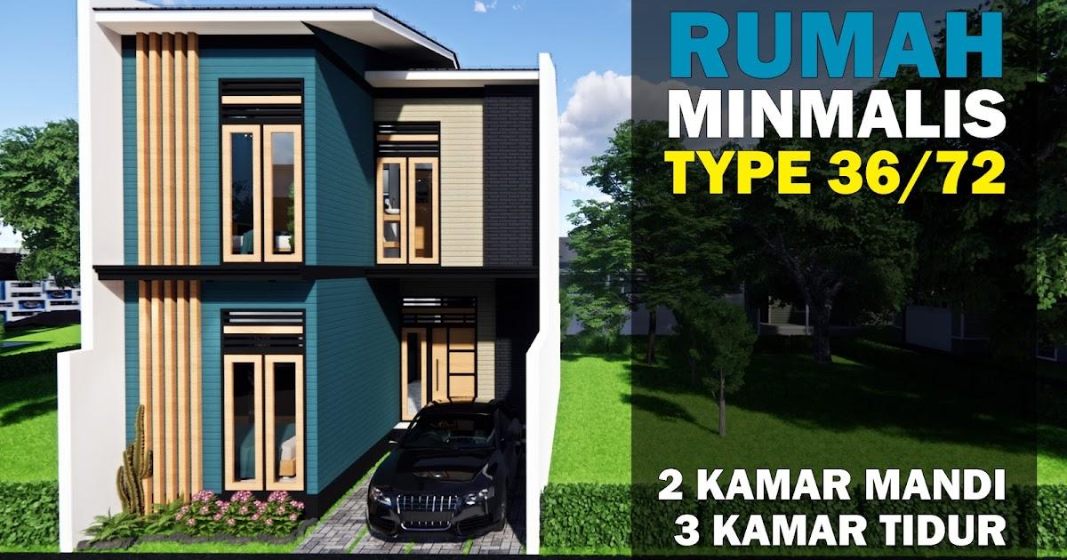 Model Rumah Minimalis Type 36/72 Terbaru 3 Kamar Tidur