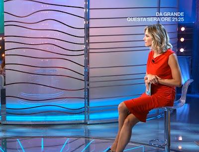 Francesca Fialdini vestito rosso da noi a ruota libera 19 settembre